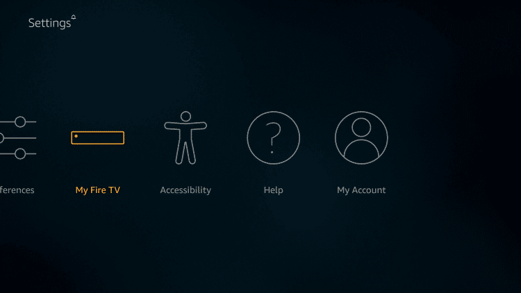 My Fire TV or Device option