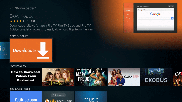 Firestick click Downloader