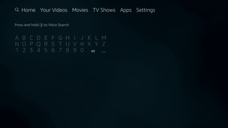 Firestick search icon