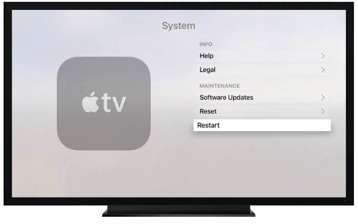 Restart Apple TV