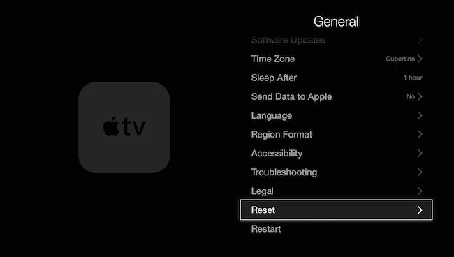 Restore Apple TV