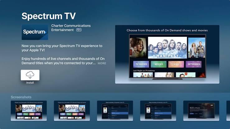 Install Spectrum TV on Apple TV