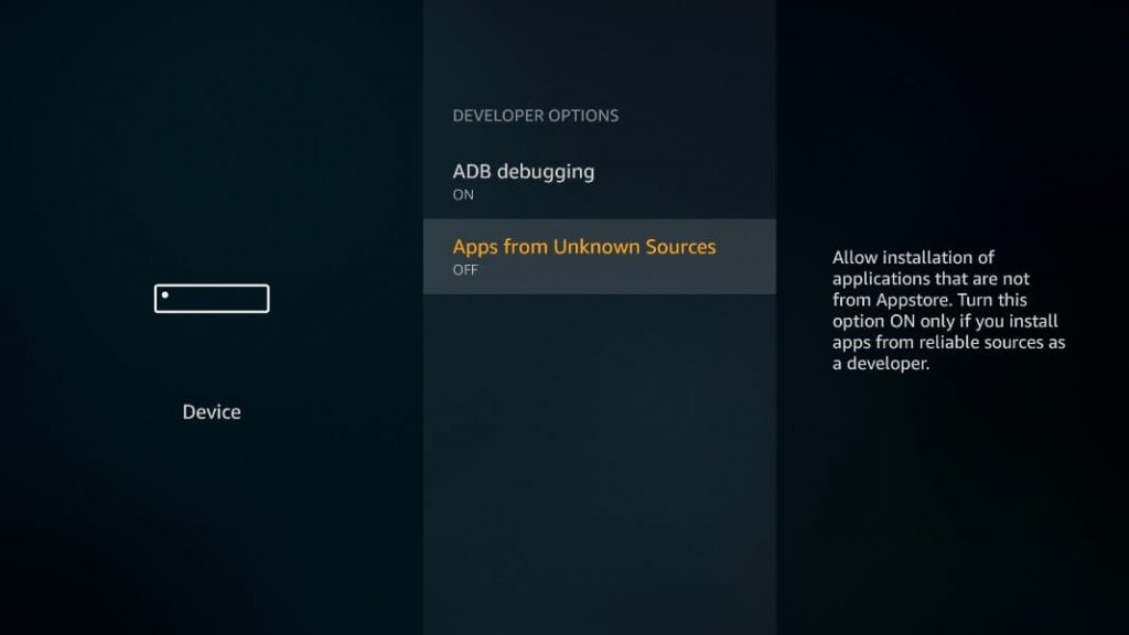 Turn on Apps from Unknown Sources