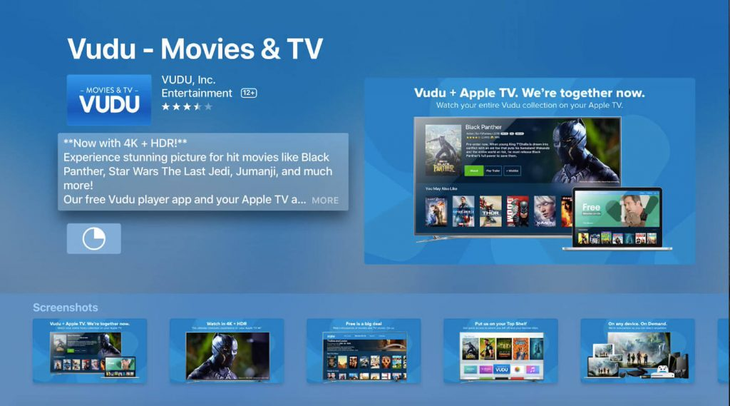 Vudu on Apple TV