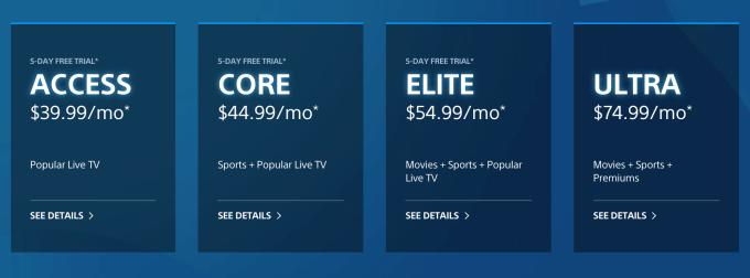 PlayStation Vue Subscription