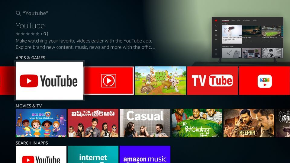 How to install YouTube on Firestick?