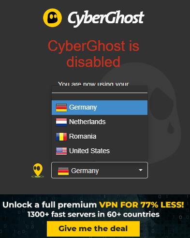 CyberGhost VPN Chrome Extension