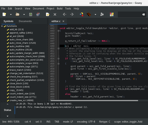 Geany - Best Text Editor for Ubuntu