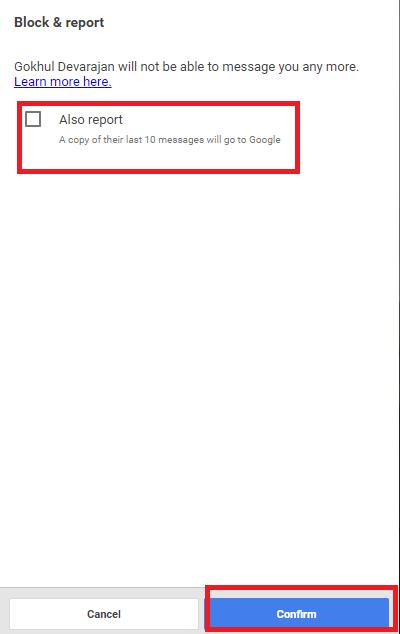 Block or Unblock on Google Hangouts