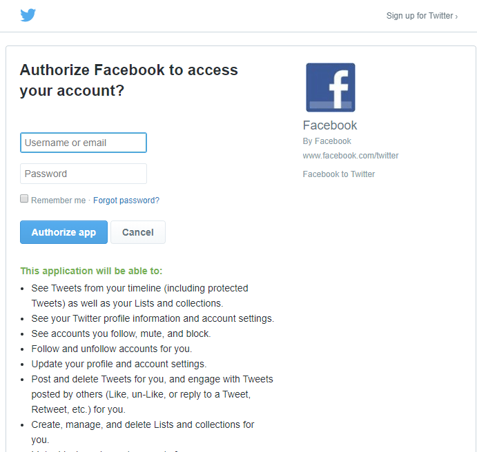 how to link facebook to twitter