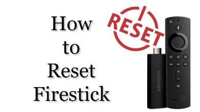 Reset Firestick