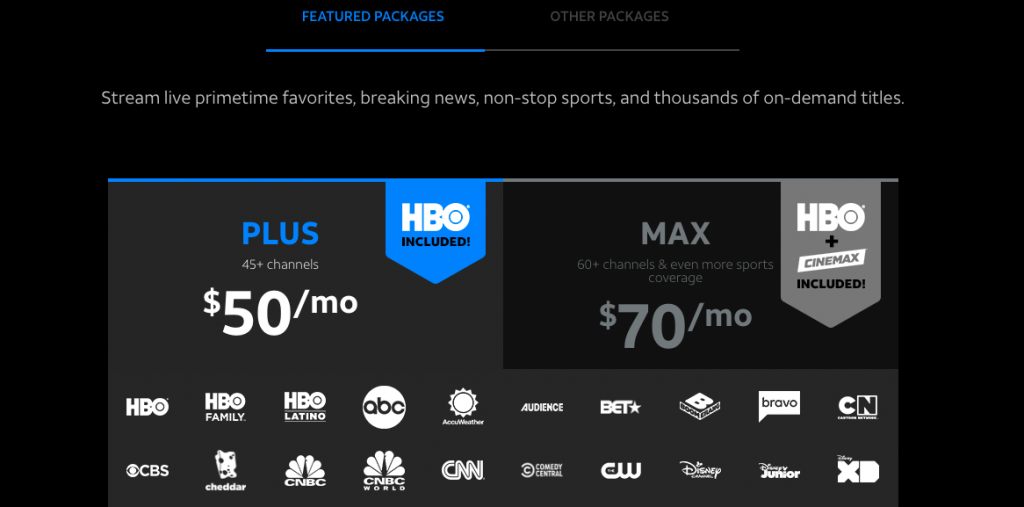 AT&T TV NOW cost