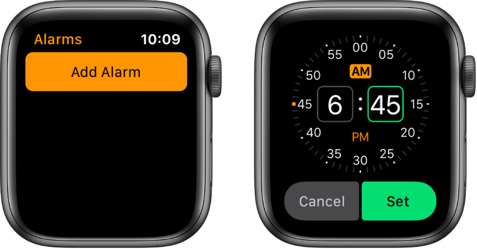 Set Alarm on Apple Watch