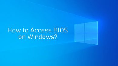 How to access bios on windows
