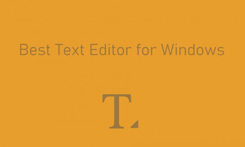 Best Text Editor for Windows