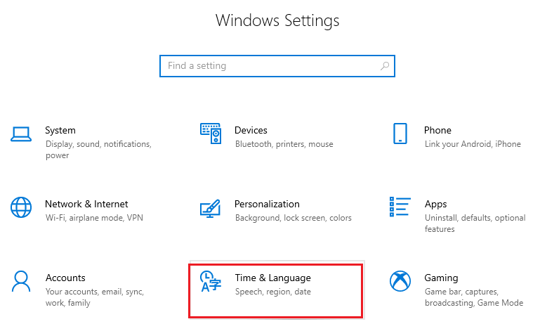 Change the Windows 10 Language