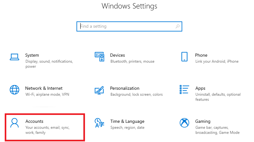 Turn off Sync on Windows