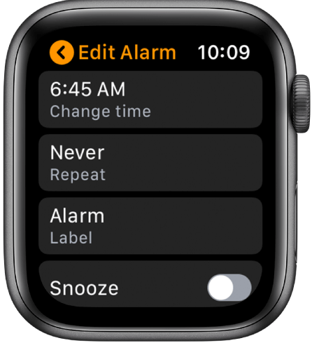 Edit Alarms on Apple Watch