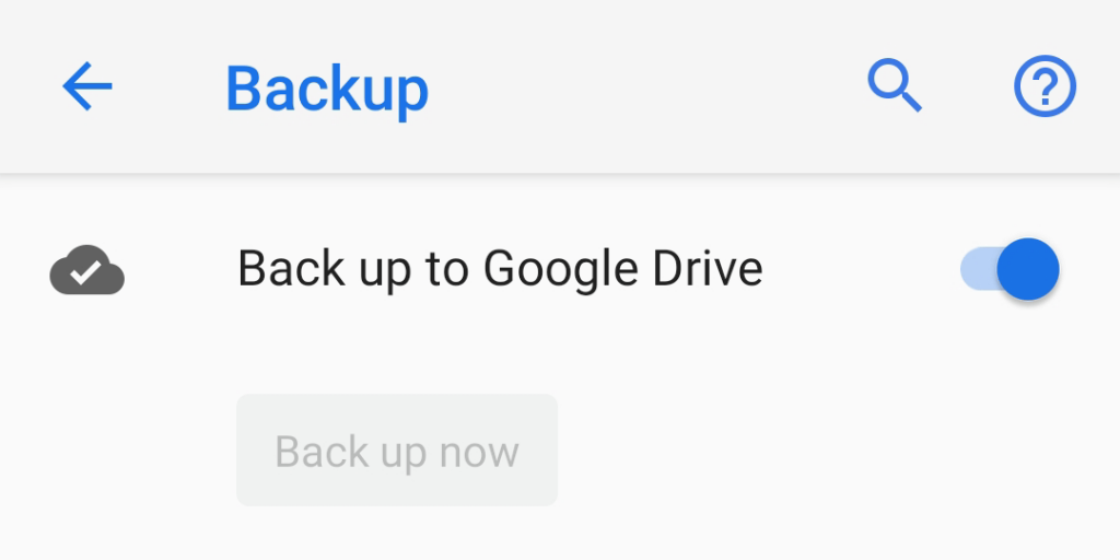 Back up your Android device