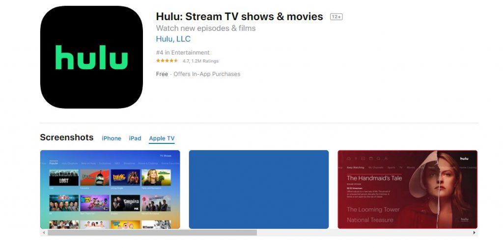 Hulu on Apple TV