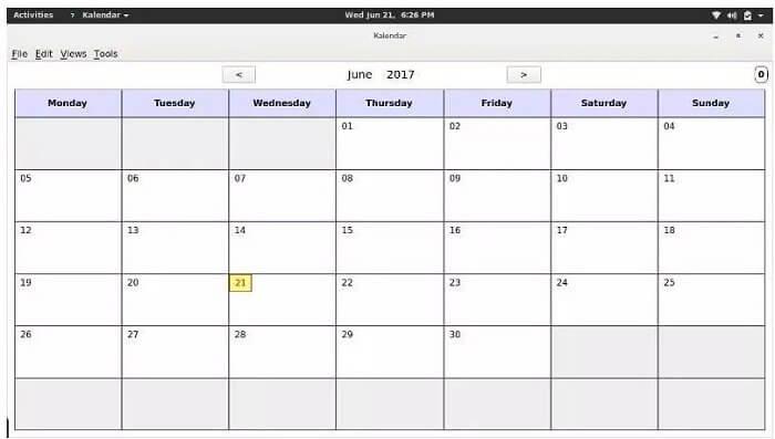Kalendar - Best Calendar Apps for Linux