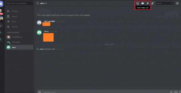 Select Video Call icon