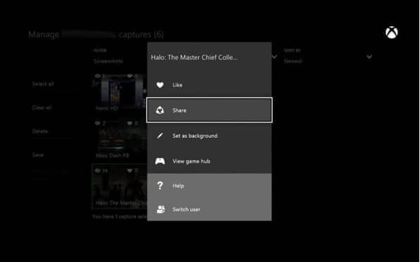 Set Screenshot as Xbox Background