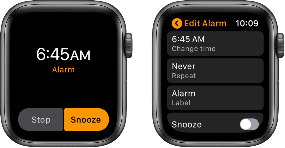 Stop and Snooze Alarms