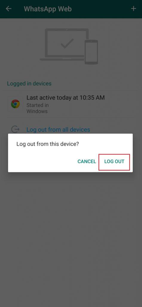 WhatsApp on Laptop