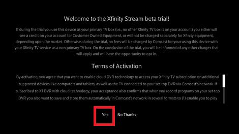 Activate Xfinity Stream on Samsung Smart TV