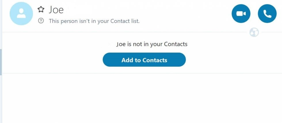 Add the Contact