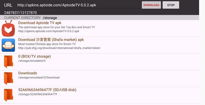 Install Aptoide app