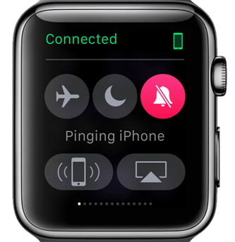 Check if iPhone is connected - How to Find iPhone using Apple Watch?