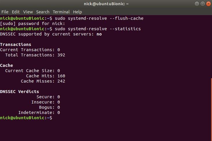 Flush DNS Cache on Linux