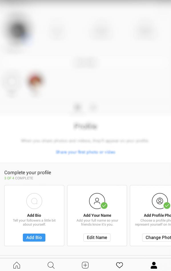 Click on Profile icon