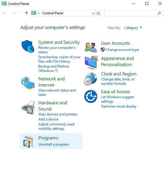 Click on Uninstall apps on Windows