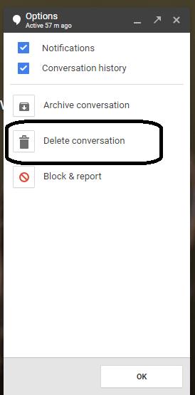 delete Sent Message on Hangouts