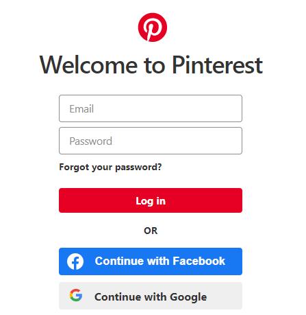 Login to Pinterest