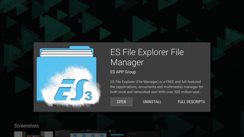 Install Es File Explorer on Mi Box