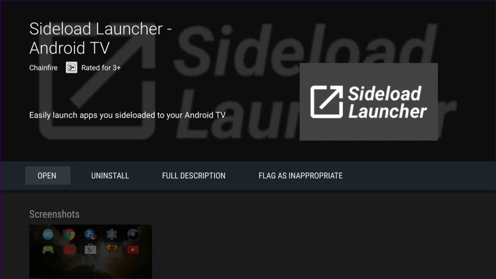 Sideload Launcher on Mi Box