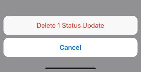 Delete WhatsApp Status on iOS