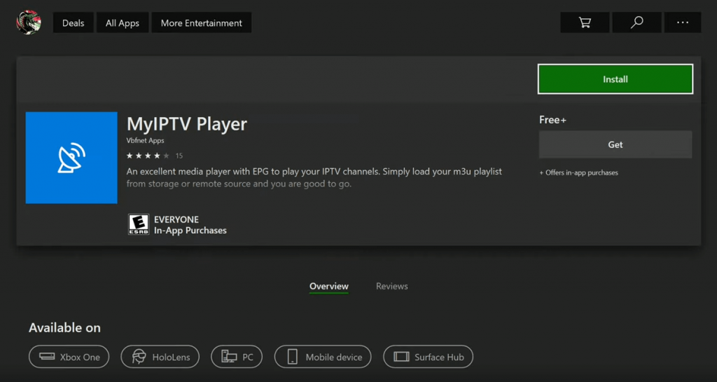 MyIPTV Player on Xbox One
