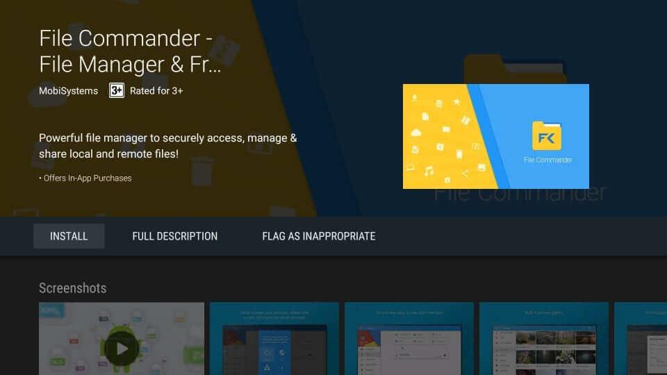 Install File Commander app