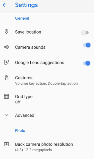 Press the Slider to Turn on Lens suggestions