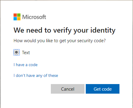 Reset Microsoft account
