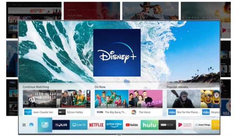 Samsung Smart TV Home Screen