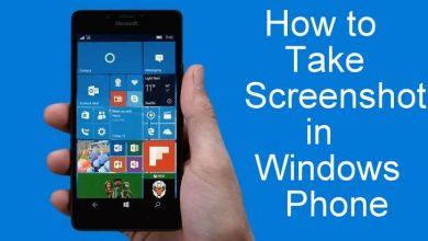 Screenshot in Windows Phone