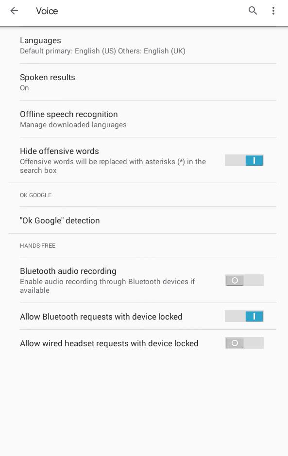 Select Languages option
