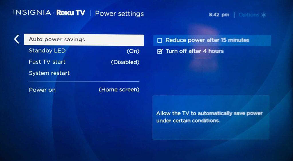 Select a Power Saving mode