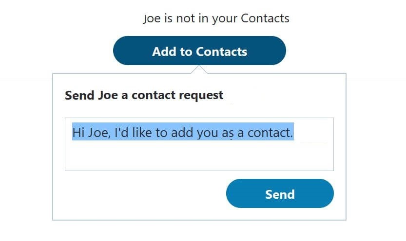 Send Contact Request